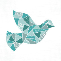 quilted dove illustration.