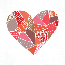 quilted heart illustration.