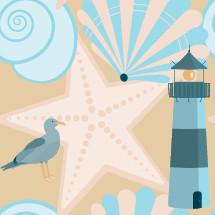 coastal themed background