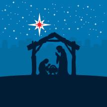 Nativity scene icon