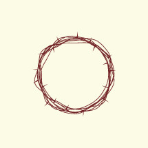 simple crown of thorns illustration.