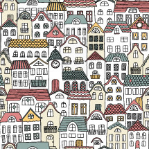 houses pattern background