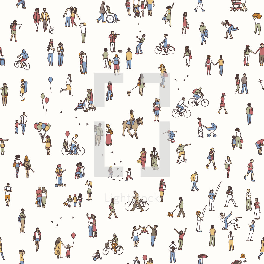 tiny people community background