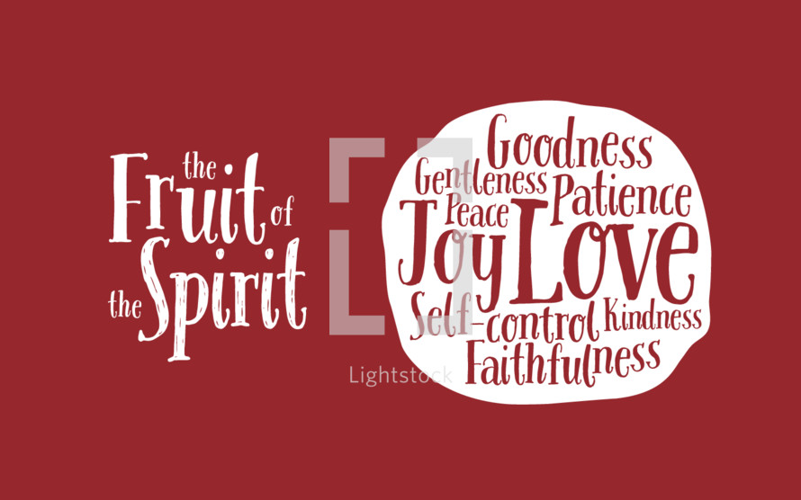 The fruit of the spirit vector graphic.