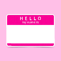 Hello my name is name badge