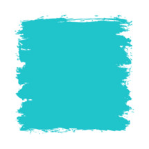 The teal turquoise paint brush stroke is drawn by hand. Paintbrush drawing on canvas. Hand-drawn brushstroke green blue texture on paper. Square shape. The graphic element saved as a vector illustration in the EPS file format for used in your design projects.