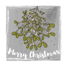 Merry Christmas and mistletoe