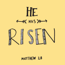He has risen, Matthew 28