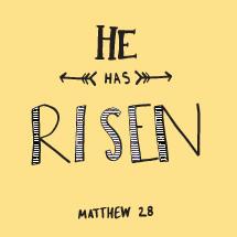 He has risen, Matthew 28