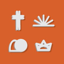 Easter shadowing icons