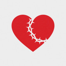 crown of thorns over a heart