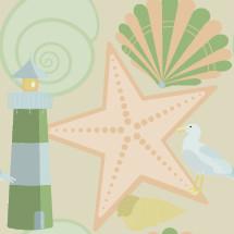 coastal themed pattern
