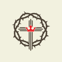 crown of thorns, cross, crown, gray, red, icon, Christianity, king