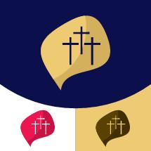 talk bubble with three crosses