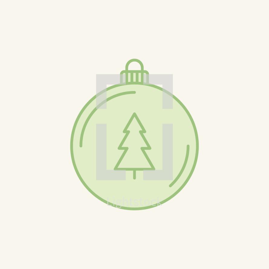 Christmas ornament with Christmas tree