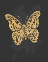 grace, love, peace, mercy butterfly