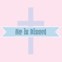 He is Risen editable banner and cross  for Easter celebrations