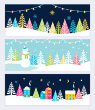 Christmas and Winter Holidays scene