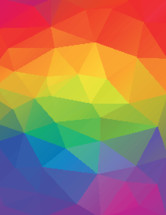 rainbow abstract geometric background