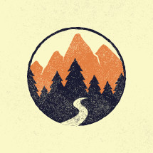 outdoor badge illustration.