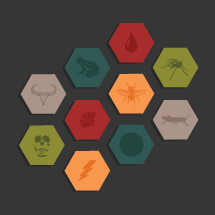 Ten Biblical plagues vector icons.