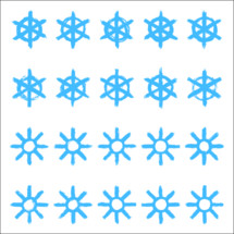 Snowflakes set 02. Twenty different hand-drawn of a snow flakes drawn by bold brush stroke