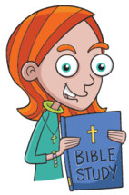 girl holding a Bible