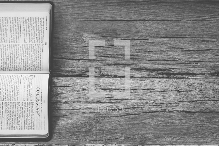 Sideways Bible opened to Colossians