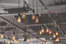 Edison light bulbs illuminate the radiant glory of God