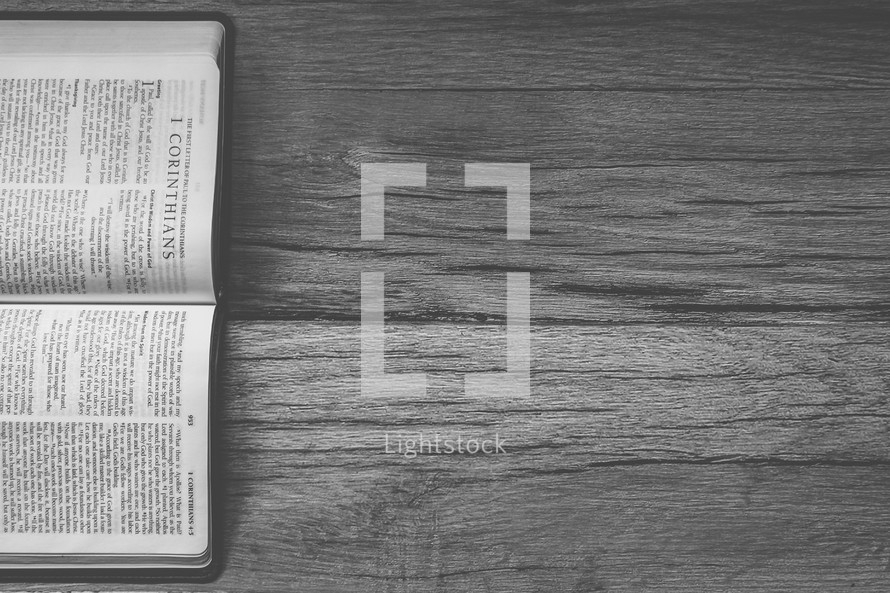 Sideways Bible opened to 1 Chronicles