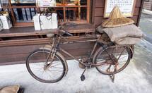 rusty vintage bicycle