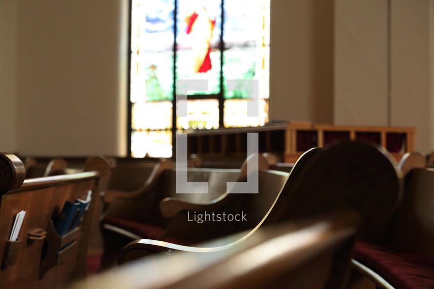 pews in a church