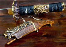 vintage sword and gun