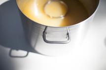 pot of soup at a soup kitchen