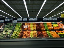 produce aisle of a grocery store