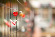 heart shaped love locks - he cares