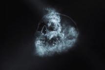 skull of smoke.