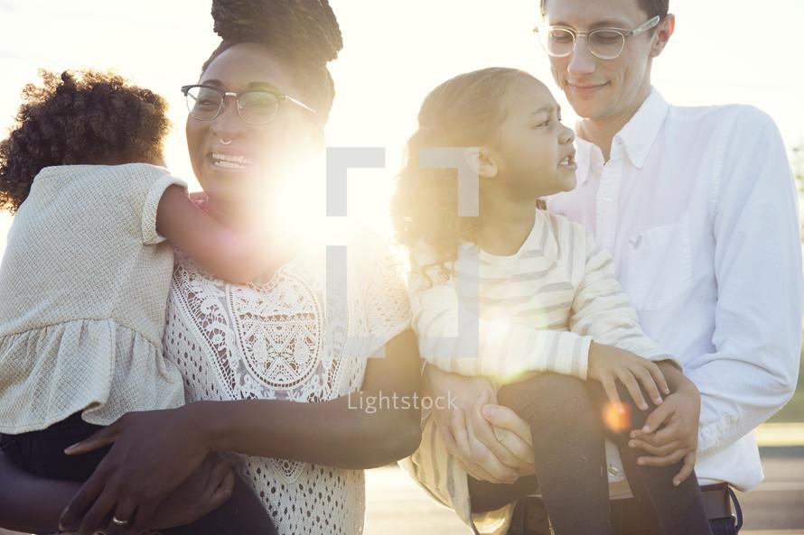 a happy, loving family