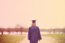 graduation walking on a dirt road