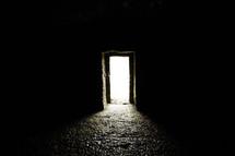light though a doorway