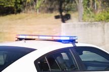 sirens on a police car