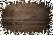 winter snowflake border background