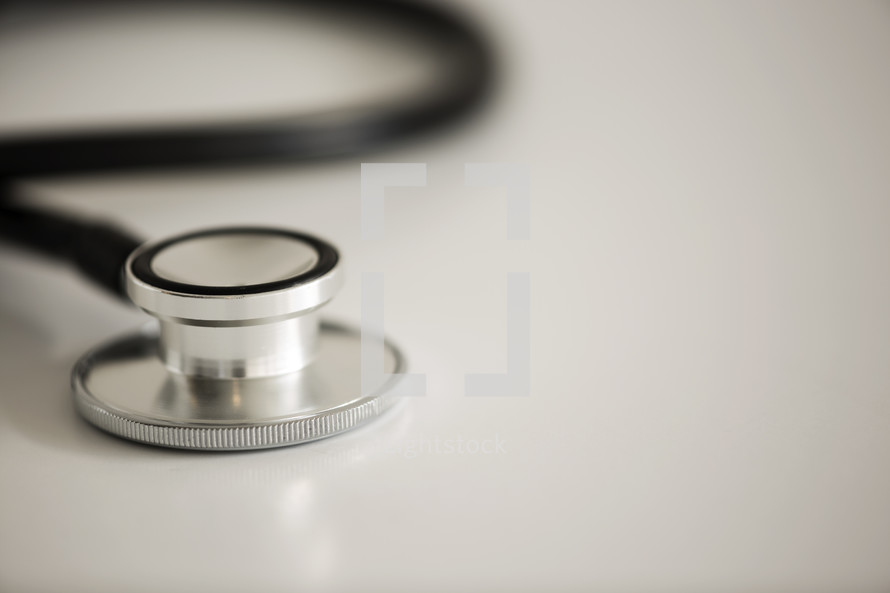 close up of a stethoscope.