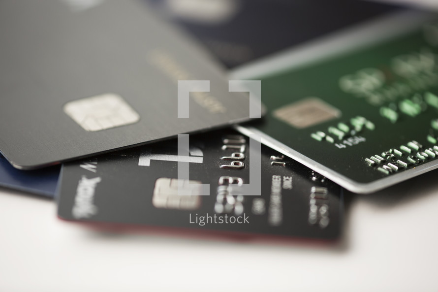 A pile of credit cards.
