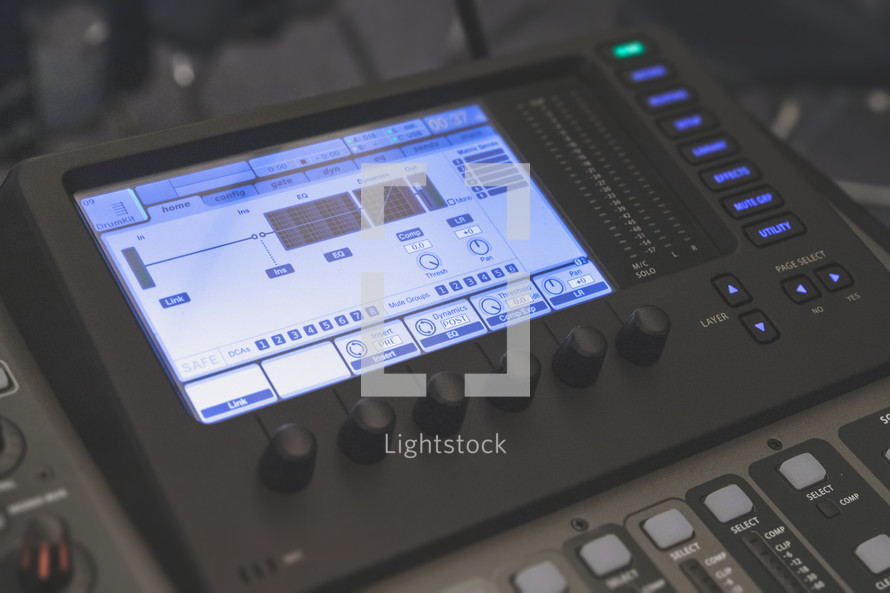 audio soundboard for tech team or media team ministry