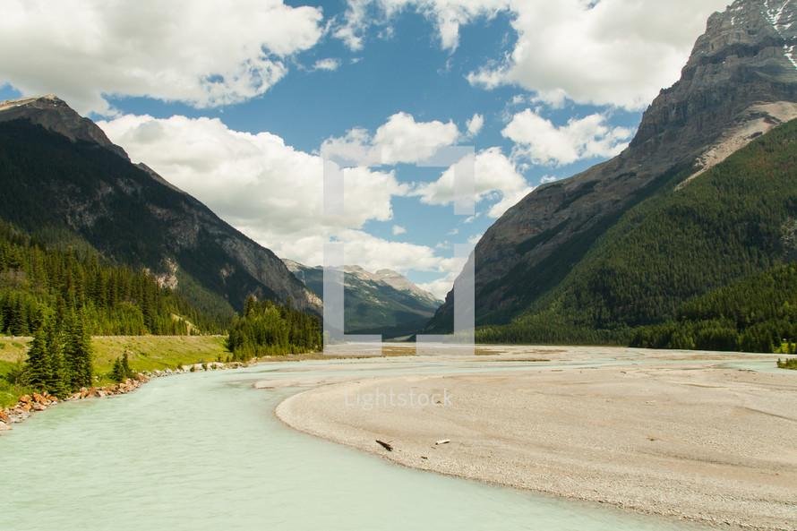 shore of a mountain lake