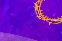crown of thorns on purple