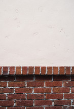 brick wall and white copy space