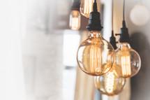 Edison light bulb illuminating the radiant glory of God