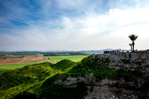 green landscape in the holy land